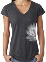 Yoga Clothing For You Ladies LOTUS FLOWER V-neck Tee, XL (side print)