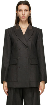 Chloé Brown Wool and Cashmere Double-Breasted Blazer
