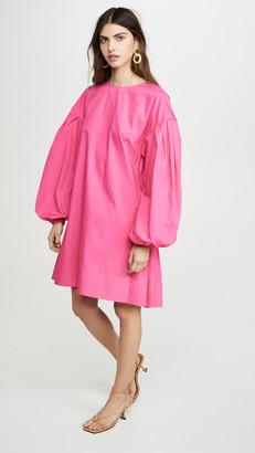 ADAM by Adam Lippes Shirred Back Dress In Cotton Poplin