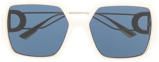 Christian Dior Square-Frame Oversized Sunglasses