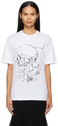 Alexander McQueen White Skull Sketchbook T-Shirt
