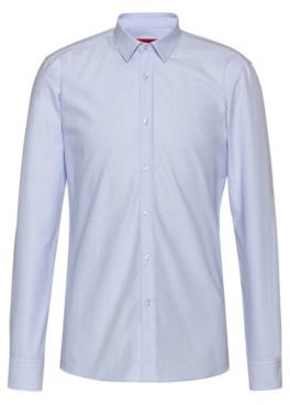 HUGO Extra-slim-fit dobby-patterned shirt in Oxford cotton
