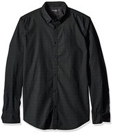 Calvin Klein Jeans Men's Lipstick Print Long Sleeve Button Down Shirt
