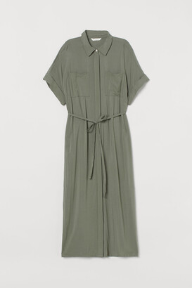 H&M MAMA Shirt Dress - Green