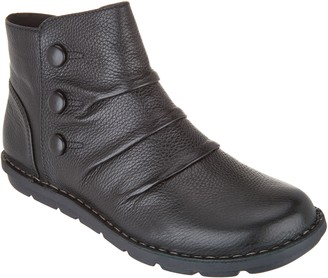 Clarks Collection Leather Ankle Boots - Janice Verna