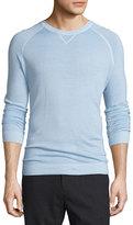 Vince Raglan-Sleeve Crewneck Sweater, Light Blue