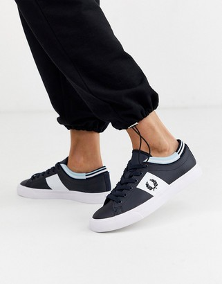 Fred Perry underspin tipped cuff leather sneakers