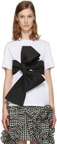 MSGM White Contrast Bow T-Shirt