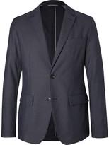 HUGO BOSS Blue Narvik Slim-Fit Cotton-Blend Twill Blazer