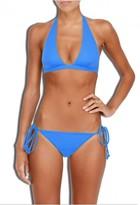 Milly Cabana Solid Capri Halter Bikini Top