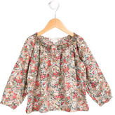 Bonpoint Girls' Floral Gathered-Accented Top