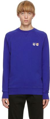 MAISON KITSUNÉ Blue Fox Head Sweatshirt