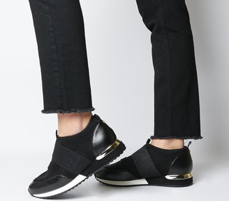 Office Fair Game Slip On Trainers Black Snake Mix