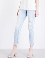 Current/Elliott The Fling straight mid-rise jeans
