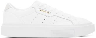 adidas White Sleek Super Sneakers
