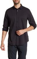Calvin Klein Collared Long Sleeve Print Shirt