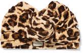 Gucci Leopard-print Velvet Turban - Leopard print