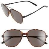 Men's Carrera Eyewear 55Mm Aviator Sunglasses - Havana Black