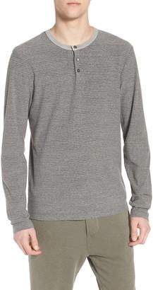 James Perse Regular Fit Micro Stripe Henley Shirt