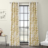 Eff EFF Triad Grommet Printed Cotton Twill Window Curtain
