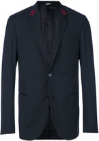 Lanvin embroidered arrow collar blazer - men - Cupro/Wool - 48
