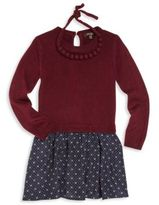 Imoga Toddler's, Little Girl's & Girl's Two-Piece Pipa Sweater Dress & Necklace Set