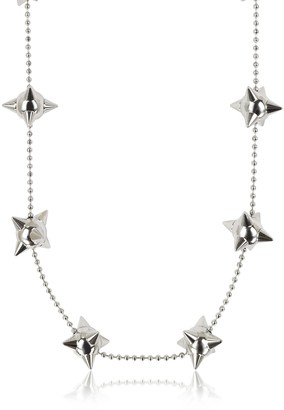 DSQUARED2 Pierce Me Palladium Plated Metal Spiked Chain Necklace