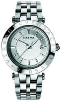 Versace V-Race Collection VQP060015 Men's Stainless Steel Quartz Watch