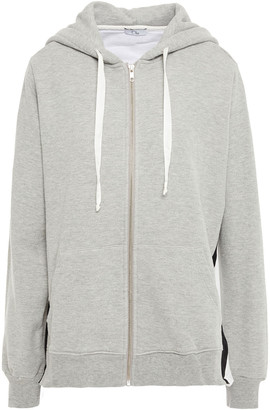 Clu Melange French Cotton-blend Terry And Shell Hoodie