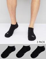 Puma 3 Pack Sneakers Socks In Black 261080001200