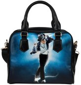 Angelinana Custom Women's Handbag Michael Jackson Galaxy Bule Fashion Shoulder Bag