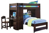 ACME Furniture Lars Kids Loft Bed with Twin Bed - Wenge(Twin/Twin) - Acme