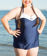 Lucy B Navy Skipper One-Piece - Plus Too
