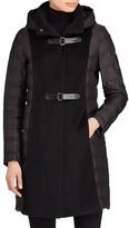 Lauren Ralph Lauren Women's Hooded Mixed Media Coat