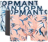 Topman Pink and Blue Print Low Rise Trunks 3 Pack
