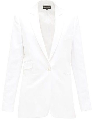 Ann Demeulemeester Zipped-seams Cotton-blend Twill Jacket - White