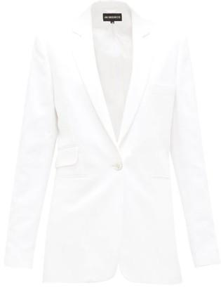 Ann Demeulemeester Zipped-seams Cotton-blend Twill Jacket - Womens - White