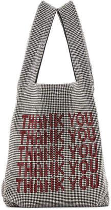 Alexander Wang Silver Mini Wangloc Thank You Shopper Tote