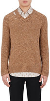 Marc Jacobs Men's Distressed Wool-Cashmere Sweater-Tan