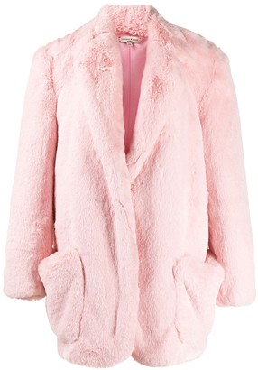 Natasha Zinko Oversized Faux Fur Coat