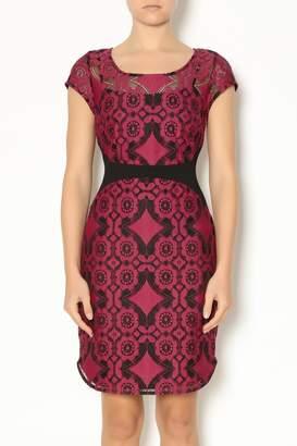 Weston Wear Wine Lace Dress