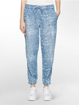 Calvin Klein Faded Abstract Cloud Drawstring Denim Joggers