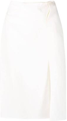 Jacquemus Slit-Detail High-Waisted Skirt