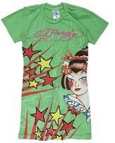 Kids - Bold Print Tattoo Tunic (Toddler/Little Kids/Big Kids) (Green Geisha)