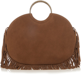 Saint Laurent Serpent classic bracelet fringed suede tote