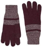 Topman Burgundy And Camel Twist Gloves
