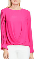 Vince Camuto Long Sleeve Crewneck Blouse