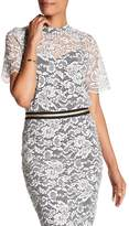 Trina Turk Damita Lace Short Sleeve Shirt