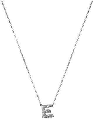 Roberto Coin Diamond Initial Necklace (White Gold-E) Necklace