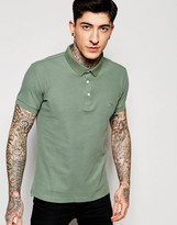Lindbergh Polo Shirt In Green In Slim Fit